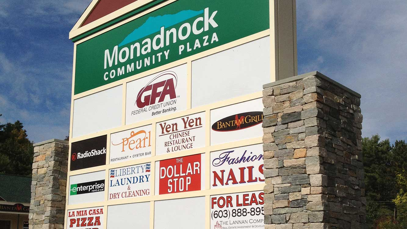 Monadnock Plaza Sign
